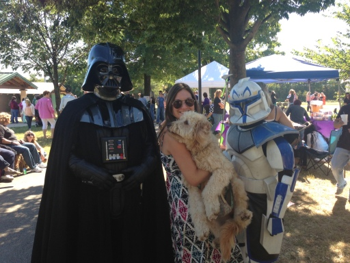 Er, taught a goldendoodle the ways of the force I did.