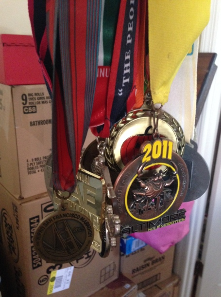 These medals I acquired during my four-year stint didn't hurt, either.