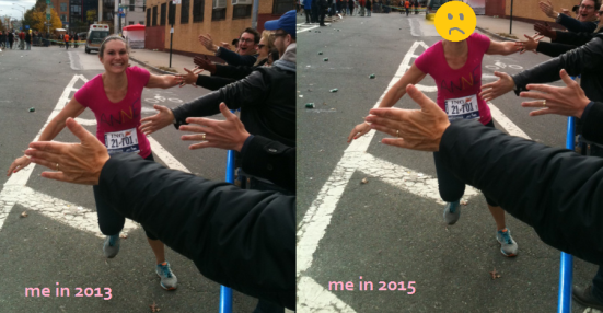 I don't have a photo from this segment, so here is a dramatic re-enactment based on my 2013 race photo.